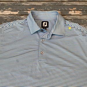 🔥 FootJoy men's M blue stripe golf polo shirt EUC